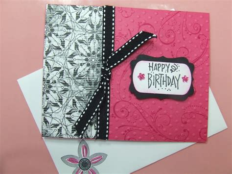Handmade Cards Ebay - handmade birthday card using stin up bling sizzix