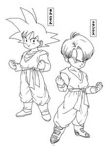 dragon ball trunks goten dragon ball coloring id coloring book trunks