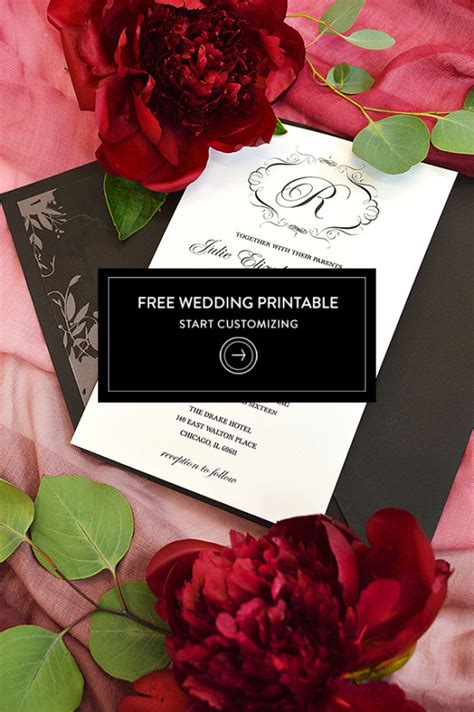 printable wedding invitations wedding chicks free wedding invitation template for the elegant bride