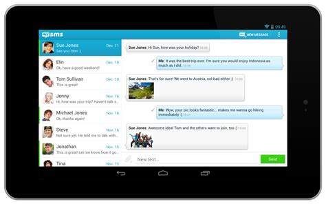 Design Application mysms for android tablets starflower design collective