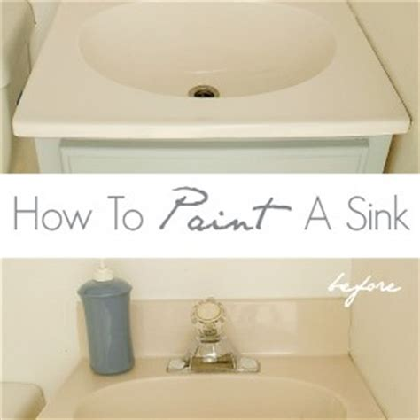 where are they now how to paint a bathroom sink it