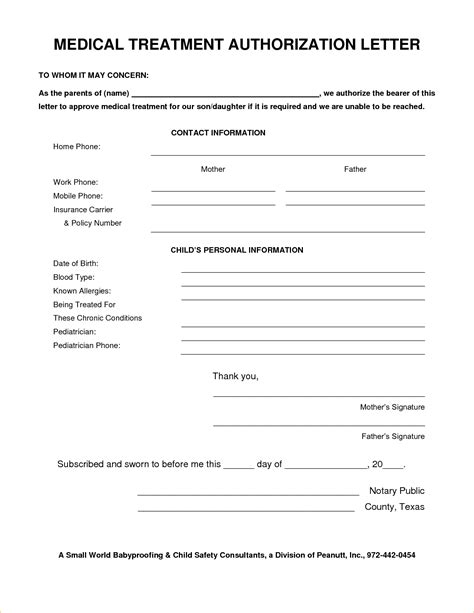 Medical Consent Letter For Grandparents Design Templates Authorization Form For Grandparents Template