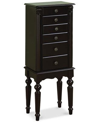 jewelry armoire macys ebony jewelry armoire quick ship furniture macy s