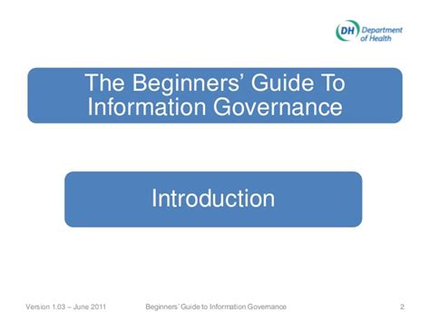 beginners guide to the law hscic ig training the beginners guide to information