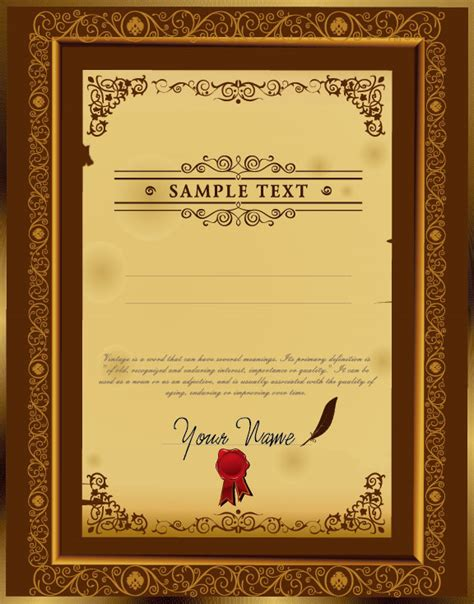 certificate design models certificate template design 02 vector material download
