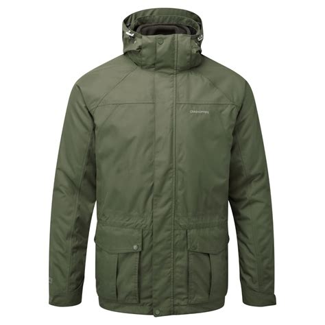 Mes Studded 3in1 craghoppers mens kiwi 3 in 1 jacket parka green khaki mens from great outdoors uk