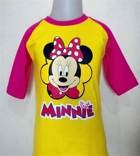 Kaos Raglan Karakter Anak Size S 2 4 Thn kaos anak karakter disney murah toko baju anak
