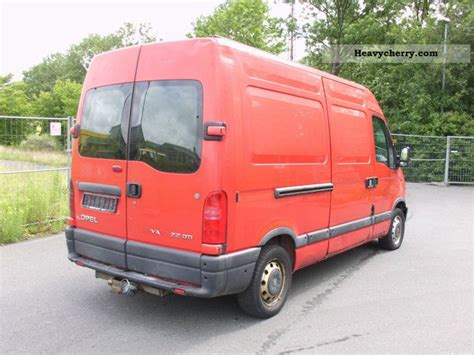 opel movano 2001 opel movano 2 2 2001 box type delivery van high and long