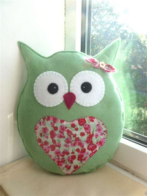 Handmade Owl Cushion - mini owl pillow owl cushion lavender scented by