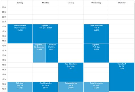 javascript designing dynamic responsive week calendar