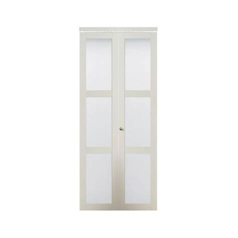Truporte Closet Doors by Truporte Door 3080 Series 24 In X 80 In 3 Lite Tempered