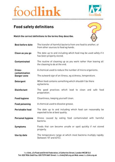 Food Hygiene Quiz Food Safety Puzzles By Janharper Teaching Resources Tes