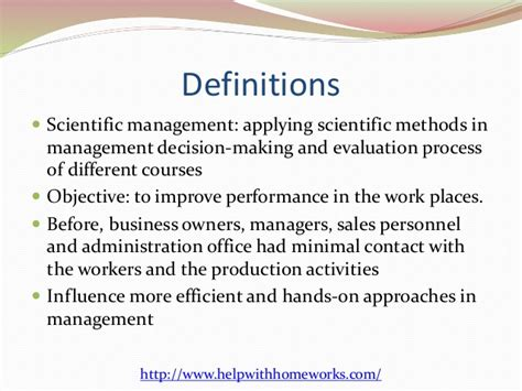 Office Of Personnel Management Definition by Advantages And Disadvantages Of Scientific Management