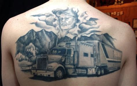 truck driver tattoos trucker memorial by ericnobleart on deviantart