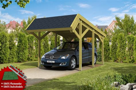 carport pultdach holz carport skanholz 171 harz 187 pultdach einzelcarport