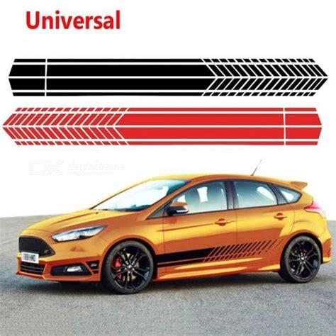 Auto Decal Glue by Universal Sports Racing Stripe Graphic Cartoon Stickers