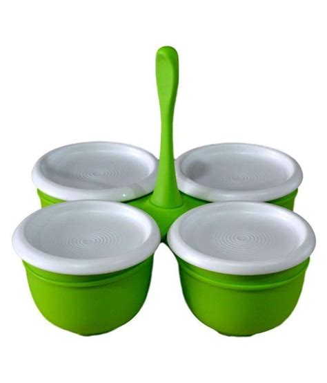 tupperware table accessories set tupperware green polypropelene condiment set 4 pieces