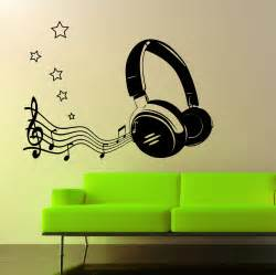 Music Wall Art Stickers the grafix studio 07 headphone amp music notes wall art sticker