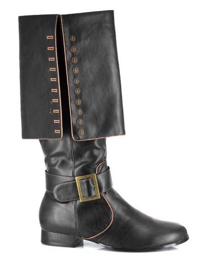 mens pirate boots mens deluxe buccaneer black pirate boots costume craze