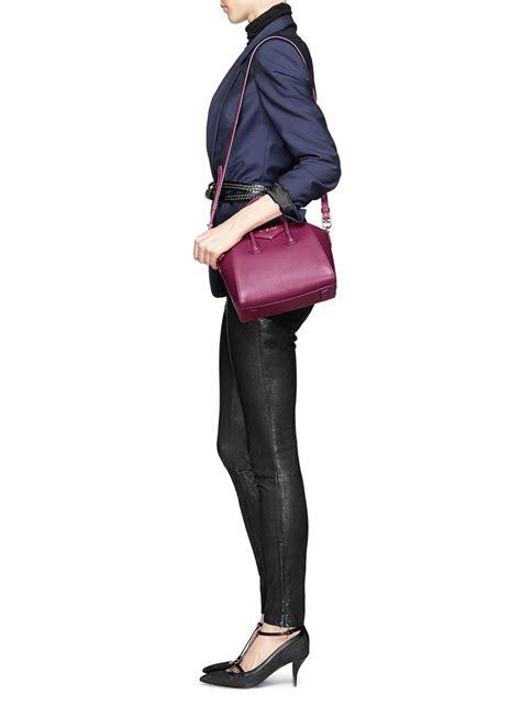 Givenchy Antigona Mini Bag givenchy antigona mini leather bag in pink lyst