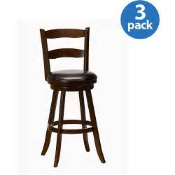 swivel bar stools with back hillsdale furniture eastpointe ladder back swivel bar stool set of 3 cherry walmart com