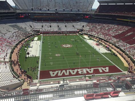 bryant denny stadium student section upper level endzone bryant denny stadium football
