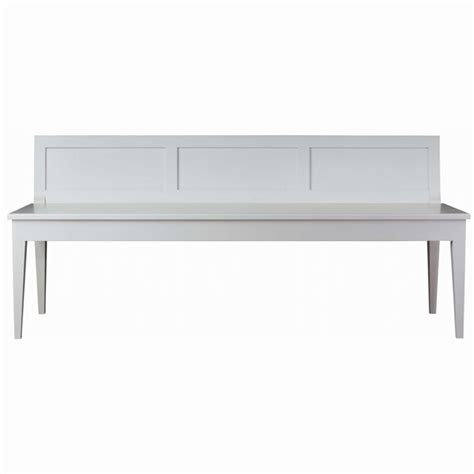 modern white outdoor bench curran high end furniture for designers and architects