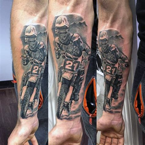 motocross tattoos 70 motocross tattoos for dirt bike design ideas