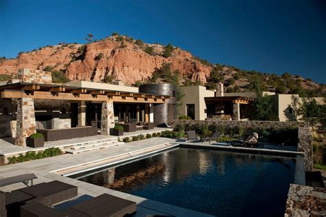 Decorating Styles For Home Interiors Tesuque New Mexico Ranch Mediterranean Pool