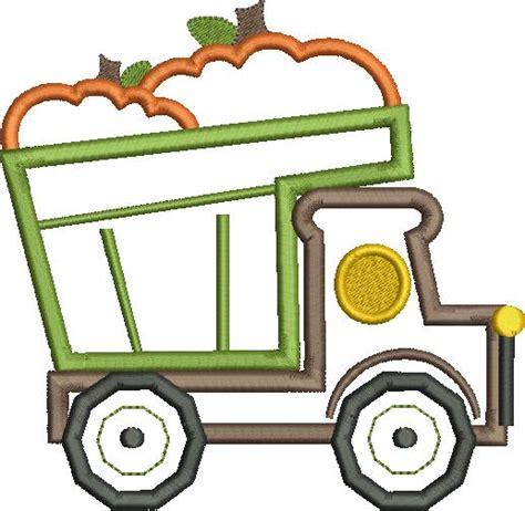 Pumpkin Dump Truck Applique Design by Pumpkin Dump Truck Applique