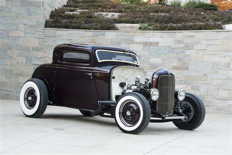 traditional deuce coupe powered  olds rocket   hot
