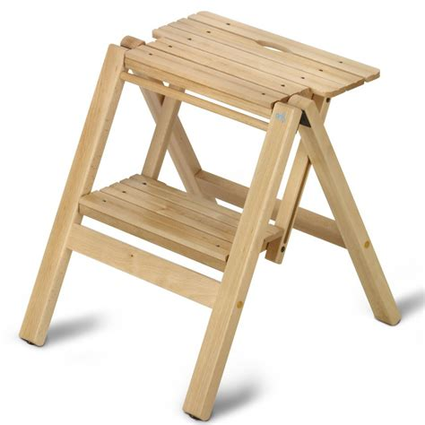 Foldable 2 Step Stool by Wooden Foldable Step Stool Bibli 2