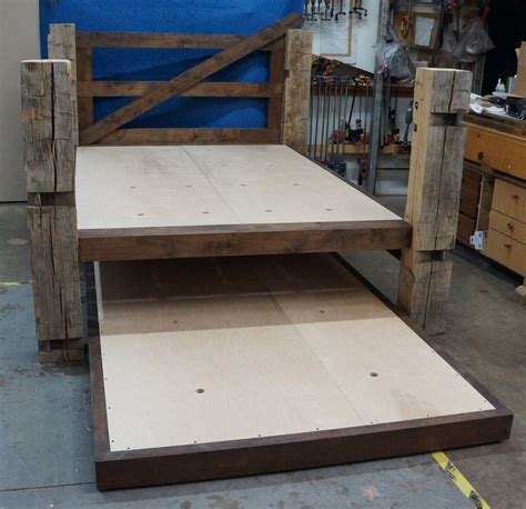 bed style rustic trundle bed ideas charm rustic trundle bed style
