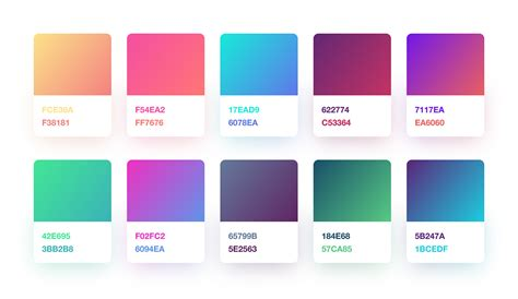 web colors 2017 free gradient color palette for sketch designers freebiesui