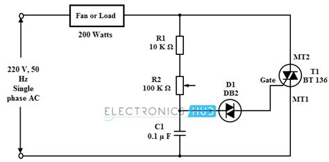 capacitor fan regulator circuit diagram simple fan regulator circuit
