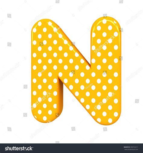 Dots N Dots 3d polka dots letter n orange stock illustration 350722211