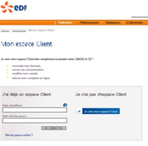 edf si鑒e social adresse espaceclient edf com acc 233 der 224 l espace client edf