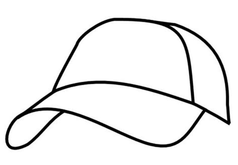 baseball hat coloring sheet coloring pages