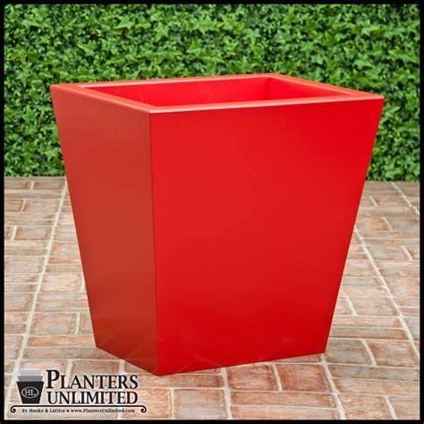 modern tapered fiberglass commercial planter 42in l x 42in