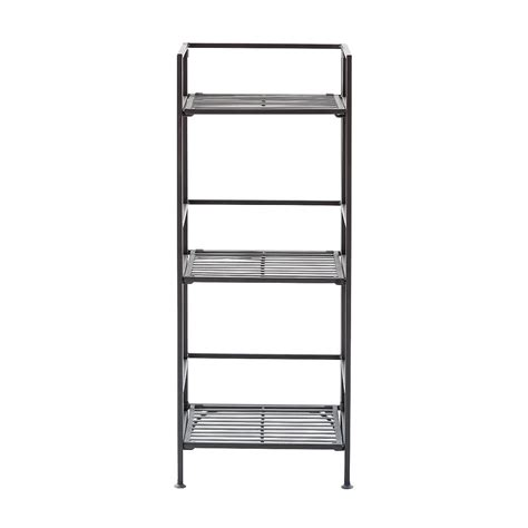3 shelf iron folding bookshelf the container store