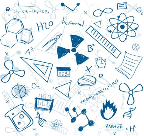 hand draw design elements vector hand drawing chemistry teaching elements vector free