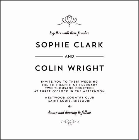Wedding Invitation Language Formal