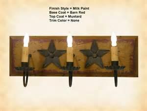Primitive Vanity Lights Primitive Wood Bar Light 3 Arm
