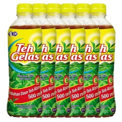 teh gelas 500ml pet botol x 6