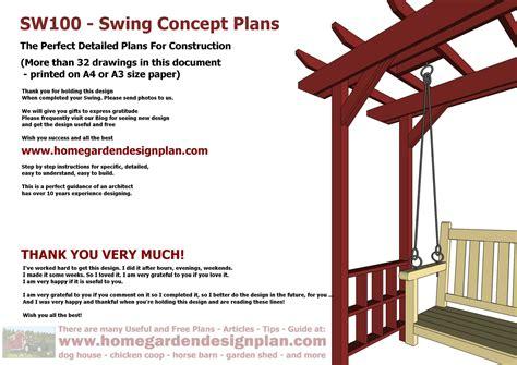 home garden plans sw arbor swing plans swing
