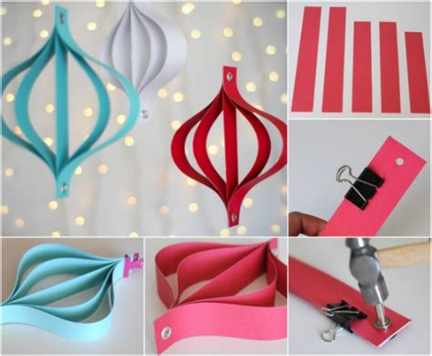 How To Make Decorations With Paper - 20 hopelessly adorable diy ornaments made from