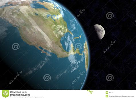 america and moon with royalty free stock