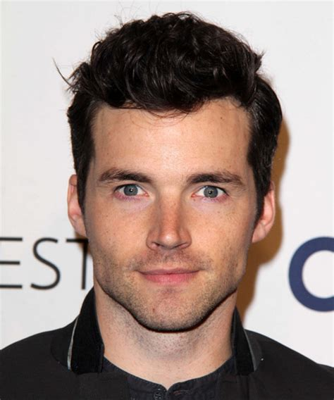 ian somerhalder face shape ian harding short wavy casual hairstyle dark brunette
