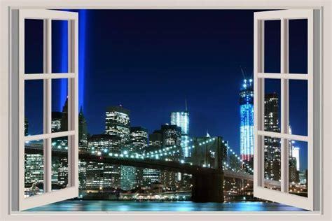 la ciudad con ventanas vinilo ventana manhattan
