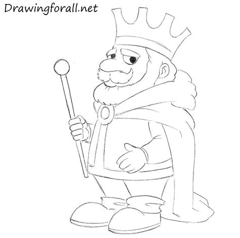 King Pictures To Draw how to draw a king drawingforall net